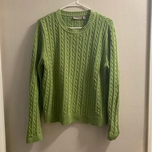 Croft & Barrow Green Pullover Long Sleeve Sweater